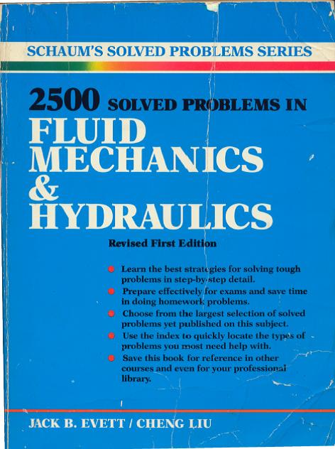 کتاب 2500 مساله حل شده در مکانیک سیالات و هیدرولیک