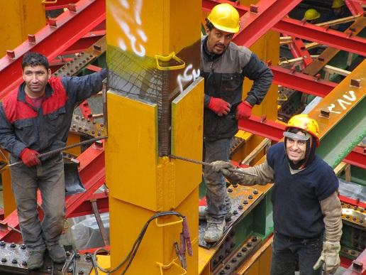 مراحل اجرای اجزای اصلی سازه فولادی