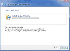 نرم افزار Quick R wall V3