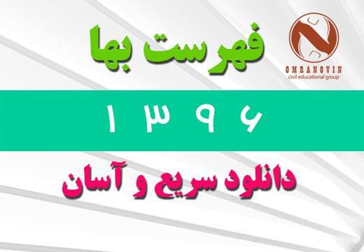 فهرست بها رشته رشته شبکه جمع آوري و انتقال فاضلاب سال ۱۳۹۶